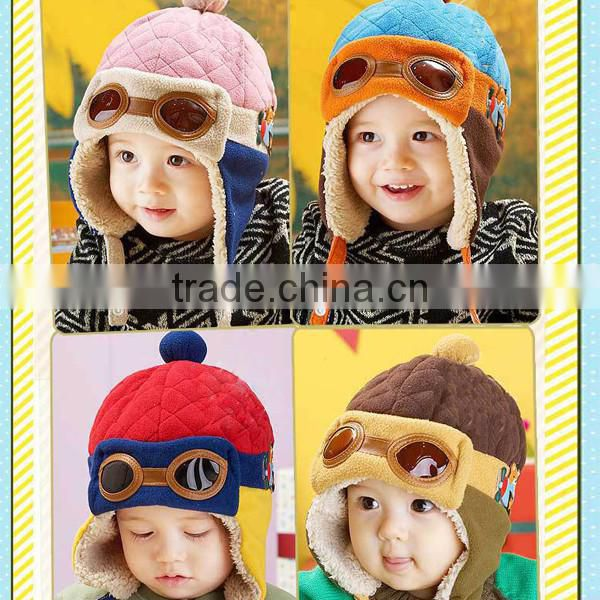 New Fashion Toddlers Warm Cap Hat Beanie Cool Baby Boy Girl Kids Infant Winter Pilot Aviator Cap