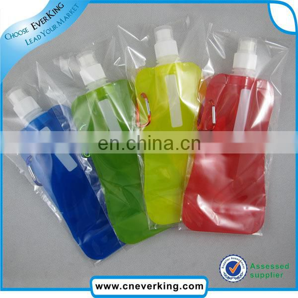 Portable folding sports water bottle