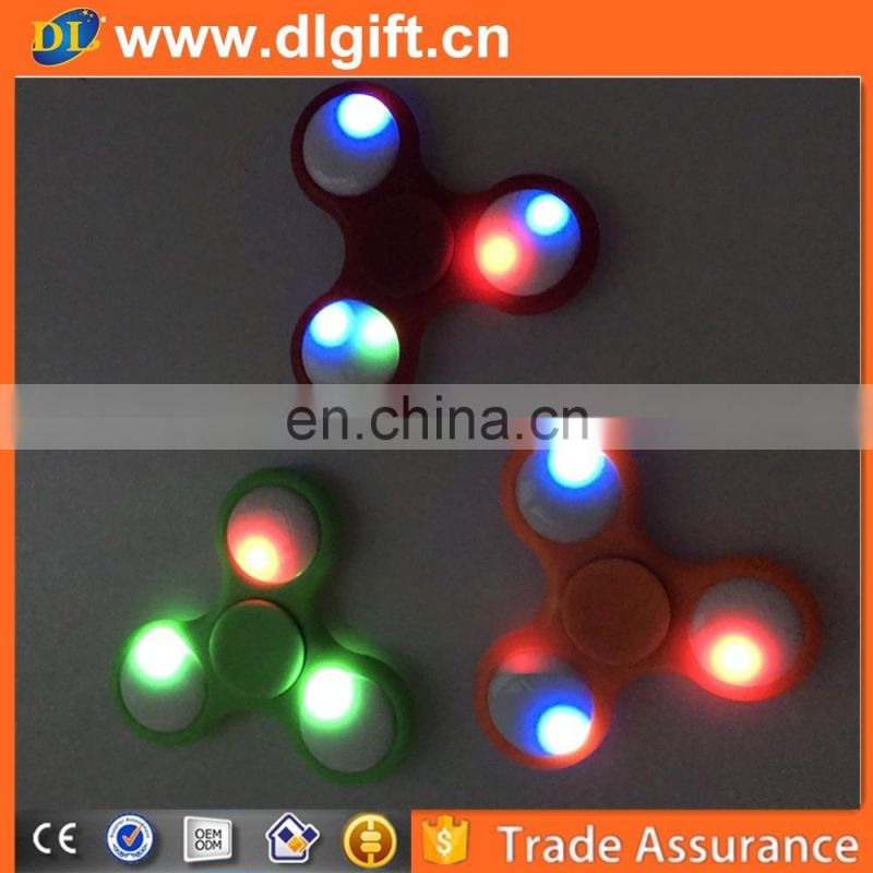 2017 New products led hand spinner toy Finger spinner Factory supply Mechanical hand spinner led Fingertip gyroscope