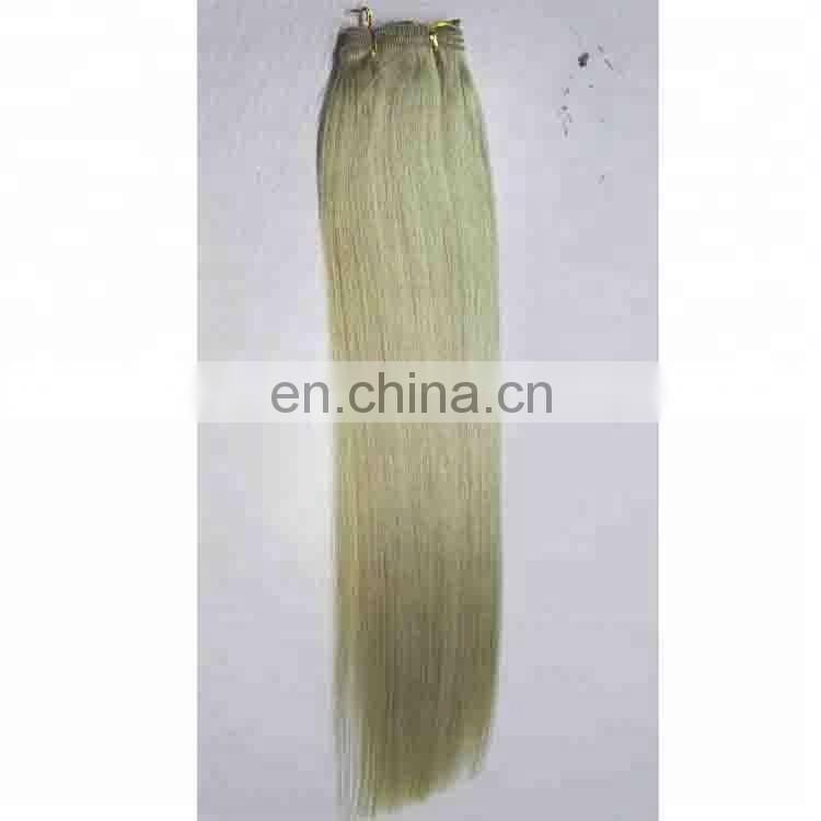 wholesale Hand Tied Hair Weft Remy Hair Extension Hand Tied Hair Weaves