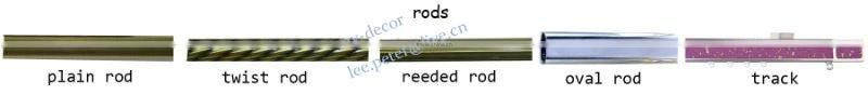 F116203 metal iron aluminium stainless steel brass plated plain twisted extensible telescopic window curtain poles rods pipes