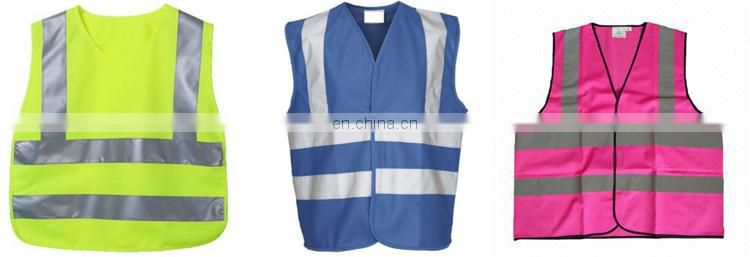 Kids Warning Vests EN1150 For Traffic In Fluorescent Colors