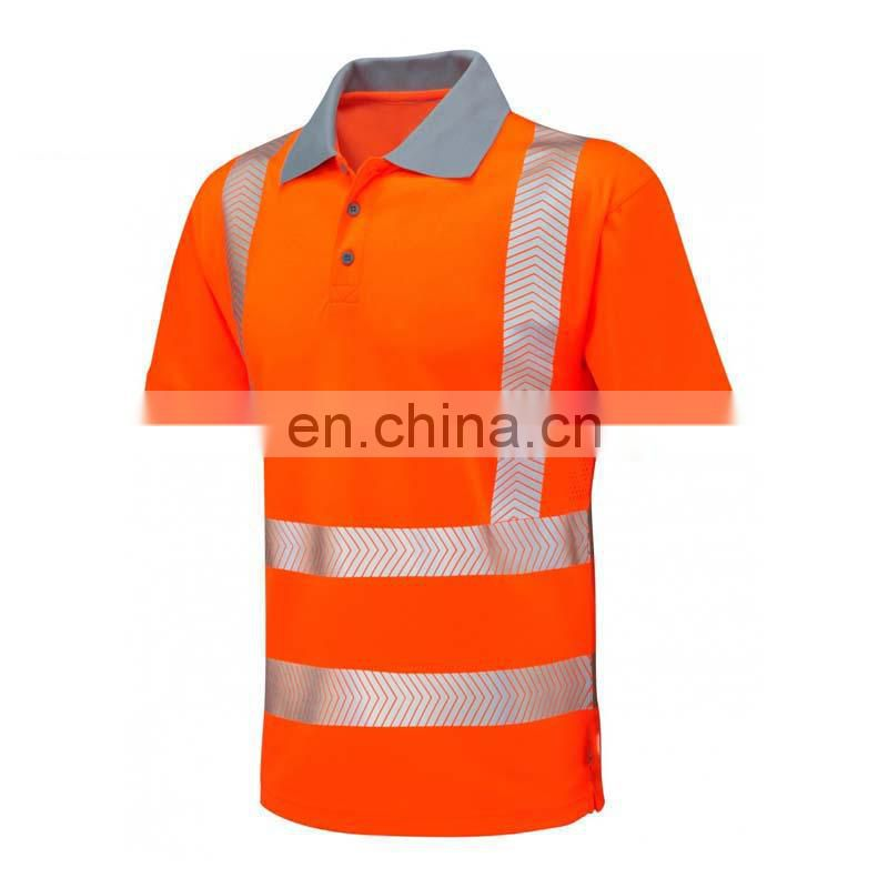 cheap short sleeve hi vis polo shirt for men
