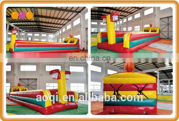 AOQI design interactive inflatable bungee basketball toss game for adults