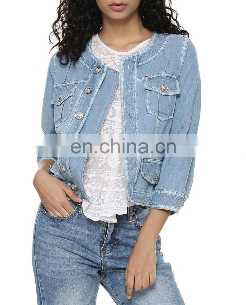 Beautiful Stitch Detail Denim Jacket for women