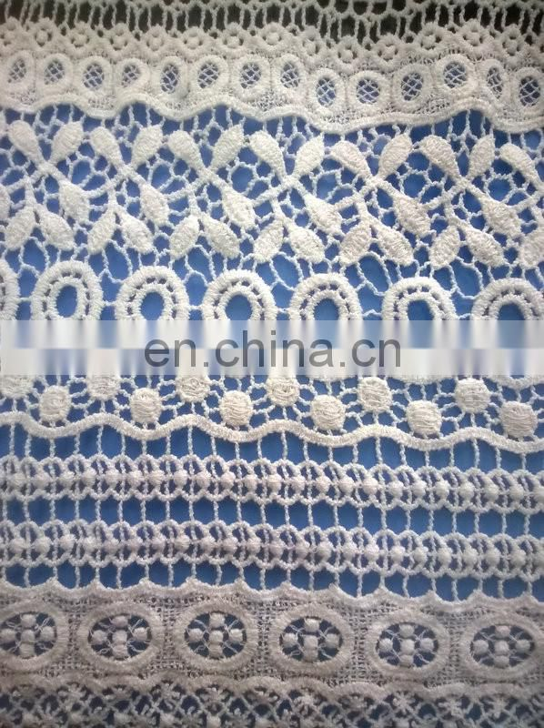 cotton chemical lace fabric used on garment