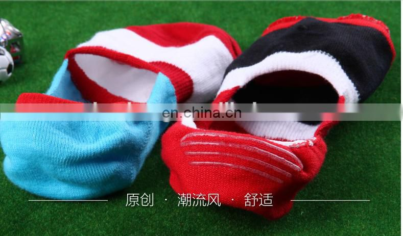 2015 Custom Fashion slipper socks with leather sole Professional Factory