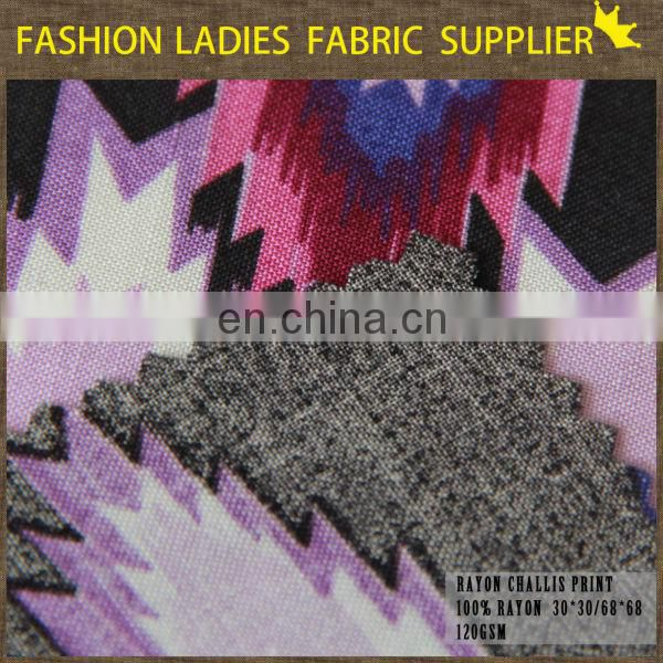 womens rayon clothing challis new design rayon viscose challis fabric soft 100% rayon challie fabric