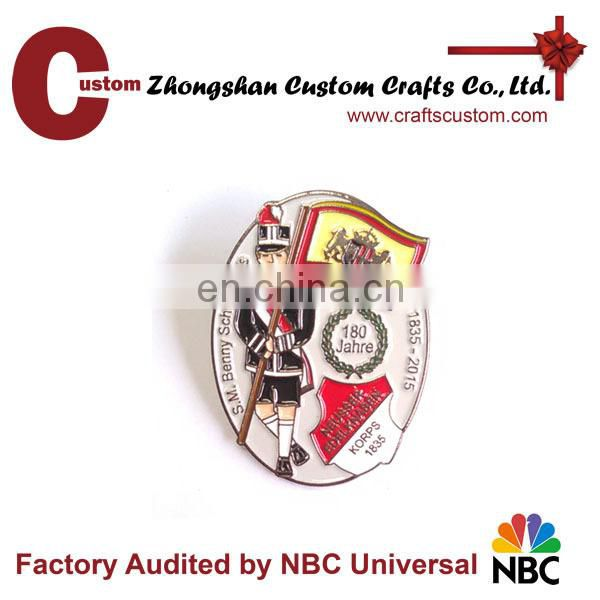 High quality Customized 3D metal badge lapel pins with printing logo
