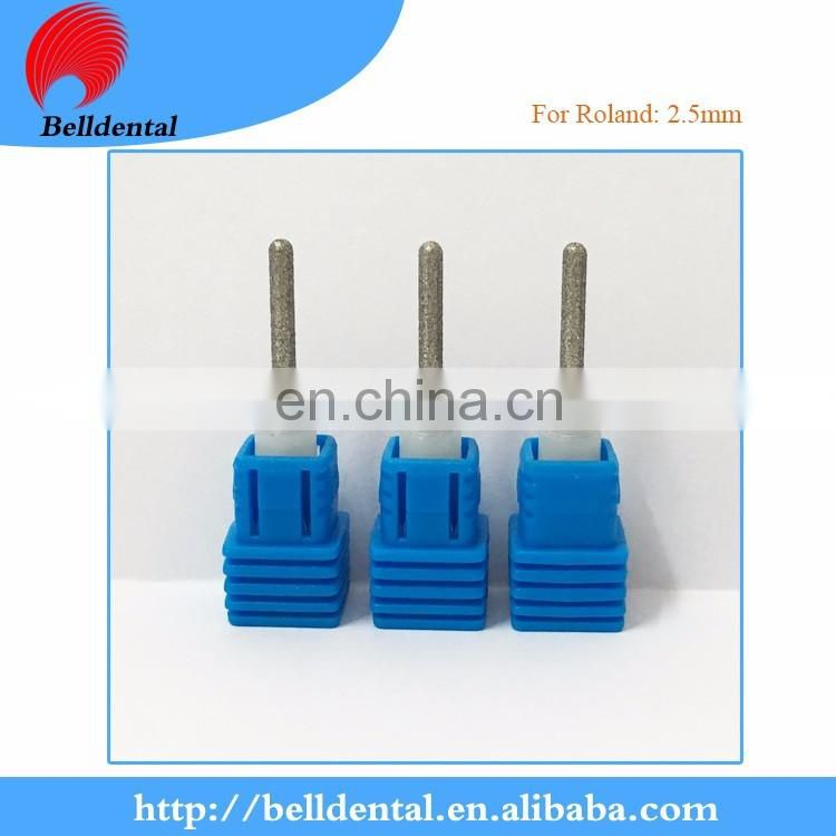 Dental Diamond coating glass ceramic milling bur for Roland system