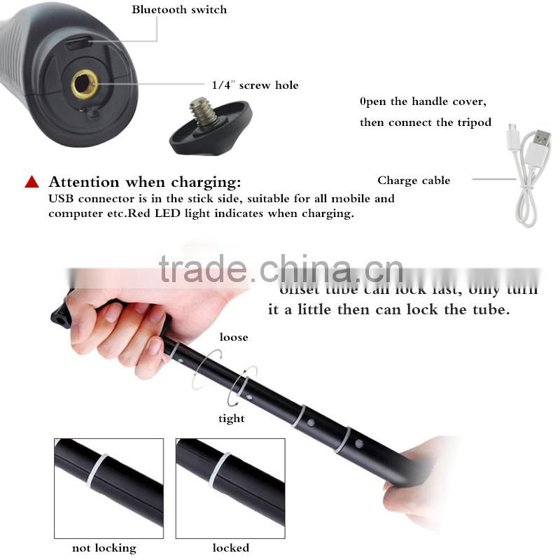 Factory supply cheapest wireless monopod mini wholesale bluetooth selfie stick for smartphone