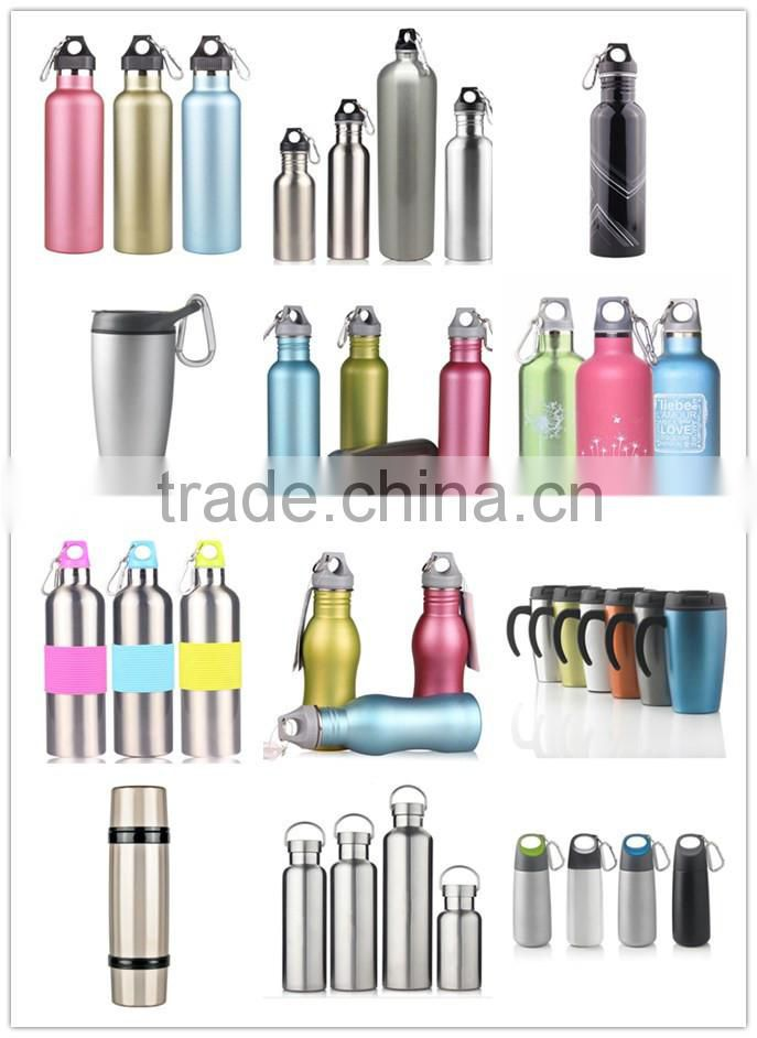 600ml double wall travel sport stainless steel vacuum tube cup