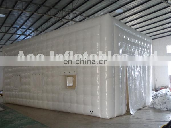 Inflatable square tent with new design for different events