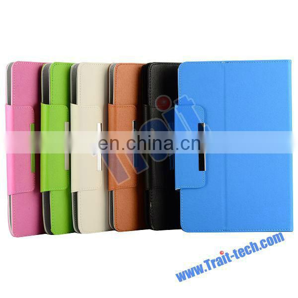 Universal Folio Style Magnetic Flip Stand Leather Case for 9 7 inch Tablet PC