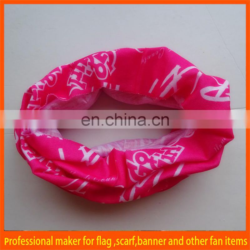printed cotton tubular bandana