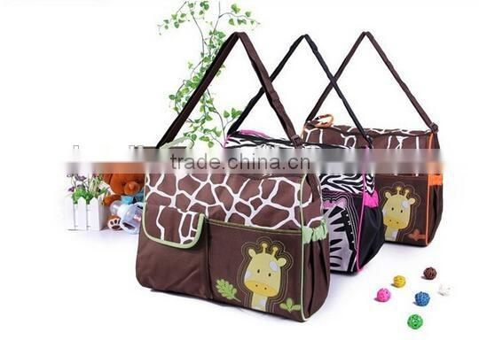 Animal prints diaper bags mummy hanging bag mother bag baby bag
