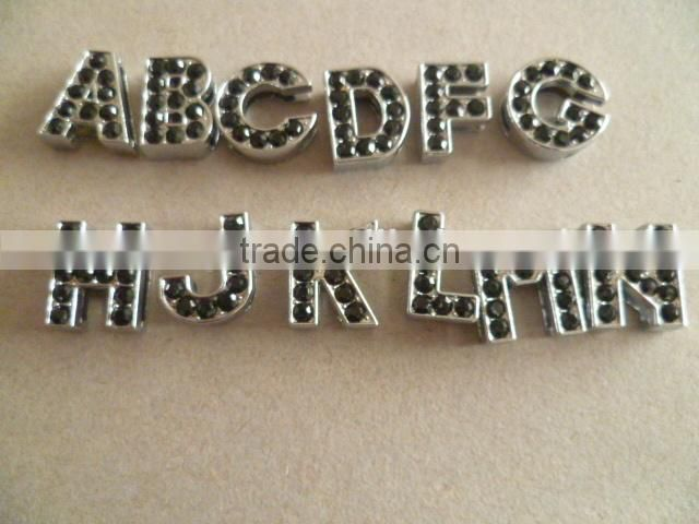 Compet Refuse Cheap Quality Just Produce and Offer High Quality Personalized DIY Rhinestone Slide Alphabet Letter