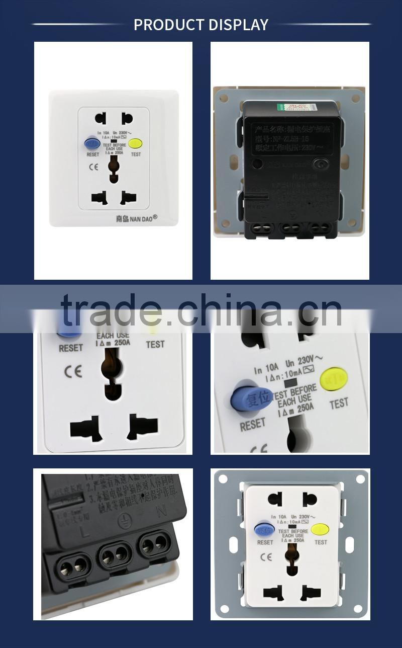 Ground Fault Interrupter Plug Factory For Circuit Series High Withstand Voltage Tester Has Exclusive Smart Gfi Safety Products With Usb Slot Nandao