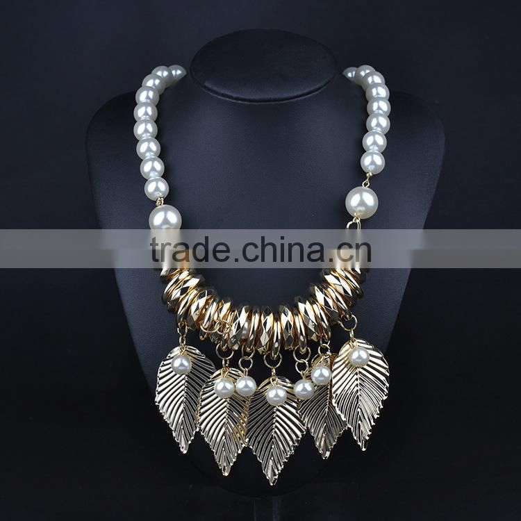 Handmade new design women fashion alloy jewelry necklace