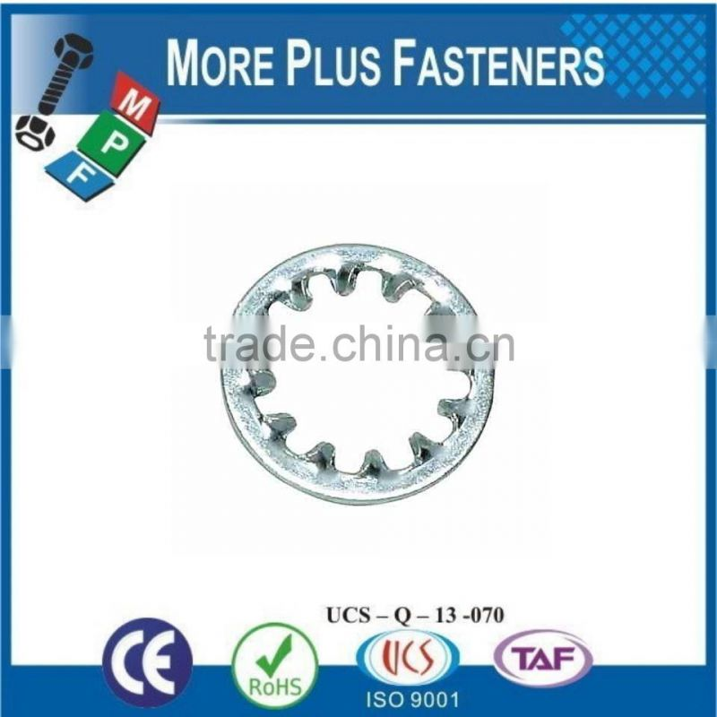 Made in Taiwan Internal Tooth Lock Washer Zinc Plated