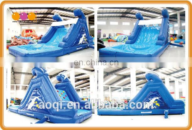 AOQI products water slide with plunge pool with free EN14960 certificate