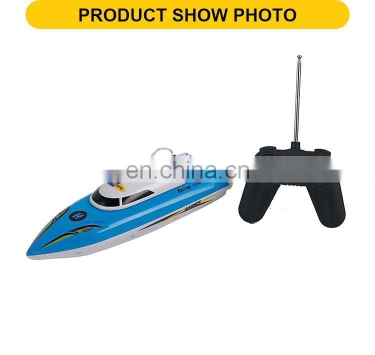 Racing plastic 4 channel rc speed boat