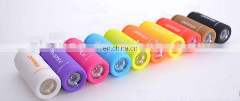 Creative item! USB rechargeable led torch light colorful portable led torch light with keychain