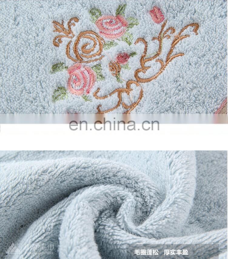 China Supplier Elegant Customized Embroider Logo 100% cotton bath towel