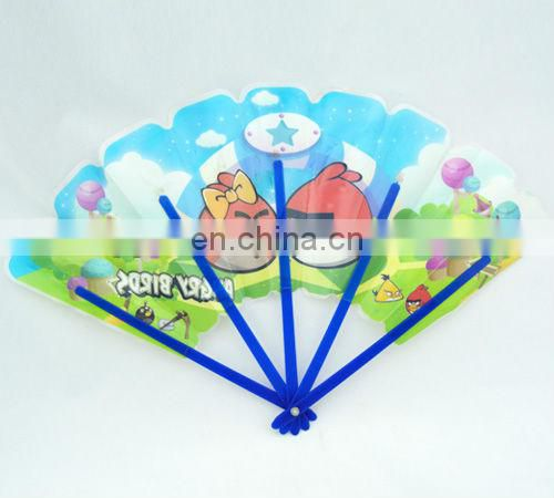promotion 5 folding plastic hand fan