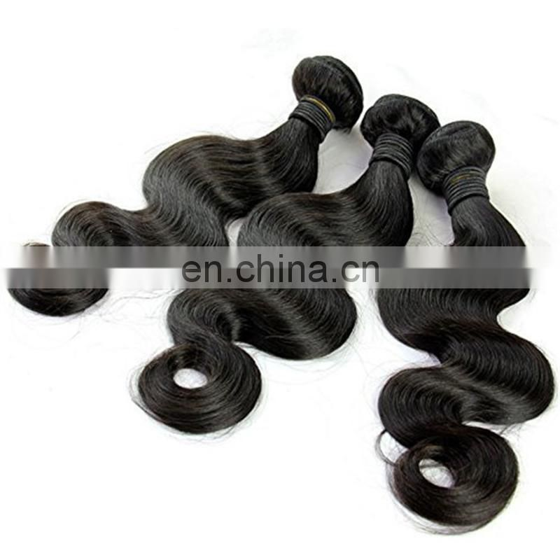Cheap price machined double malaysian hair weft natural color body wave 100% human hair bundles
