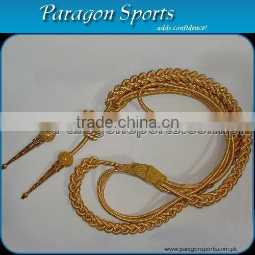 Military Aiguillette Gold Wire Double Tip