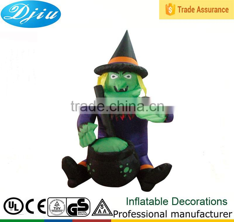 DJ-203 2015 halloween photorealistic witch 4ft hag airblown inflatable yard decor
