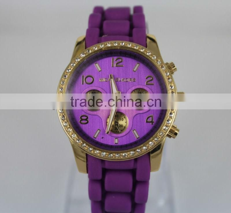 Korean ladies crystal watch 2013, 1 piece for MOQ