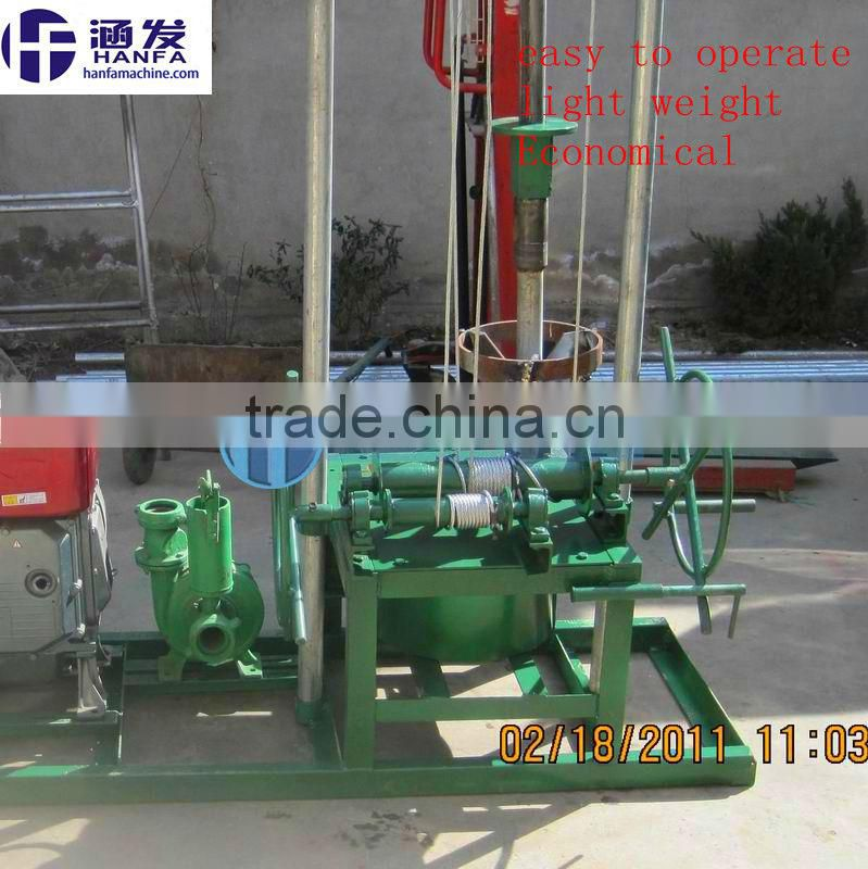 small portable water well drilling rig HF80