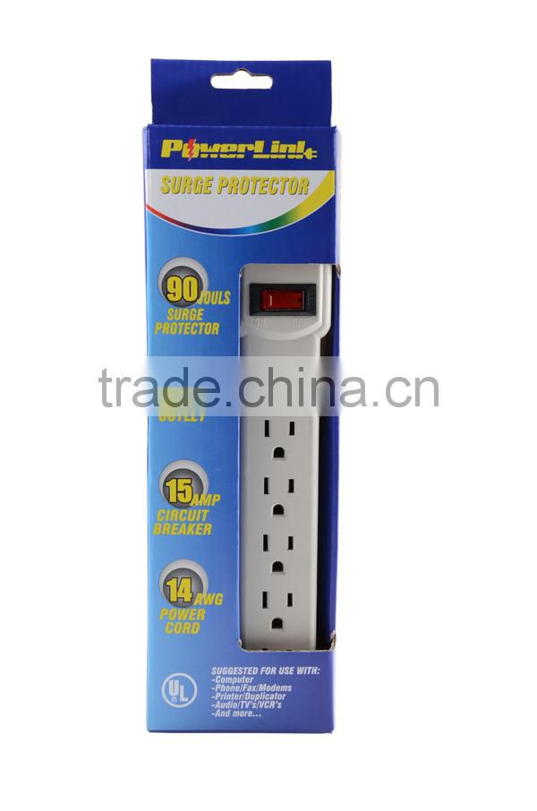 S20231 UL Listed 4 outlet power strip