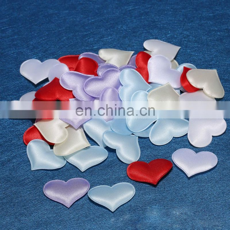 wedding party decoration scatter satin heart shaped fabric petal confetti wedding decoration