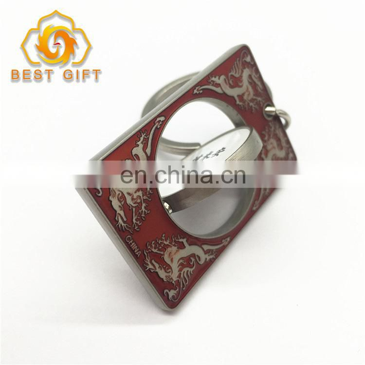Fashion Decoration Plating Custom Color Turn Metal Keychain