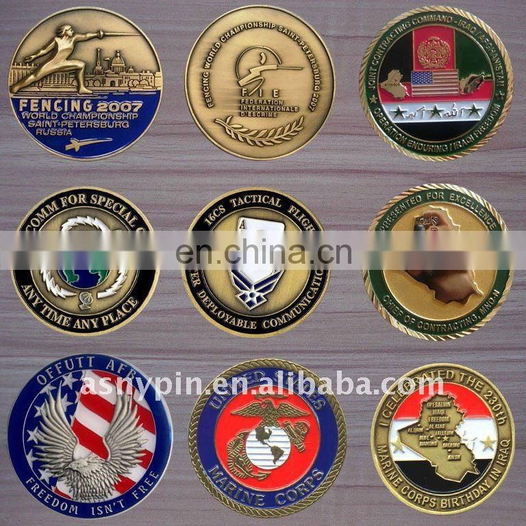 2017 hot sale custom sized souvenir coin with soft enamel