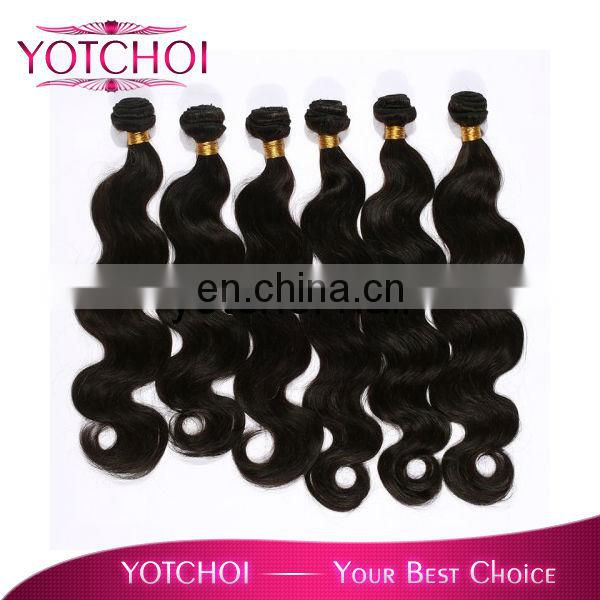 AAAAA grade Qingdao yotchoi hair products Brazilian human hair deep wave