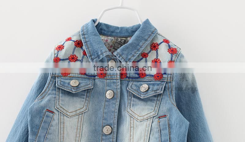 2015 autumn korean new design fashion casual denim girl coat