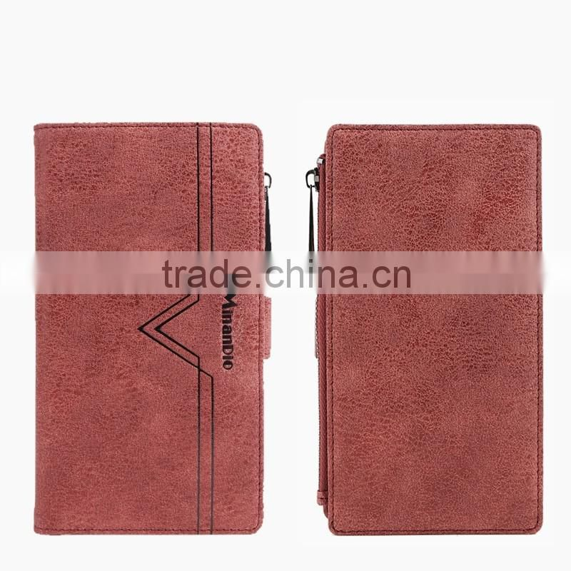 Minandio Wholesale Price Real or PU Leather Phone Case Custom Cell Phone Credit Card Holder