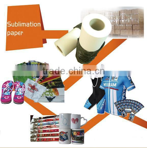 Factory Price:Sticky Sublimation Paper ,heat transfer paper for polyester cloth , skateboard , plastic , glass