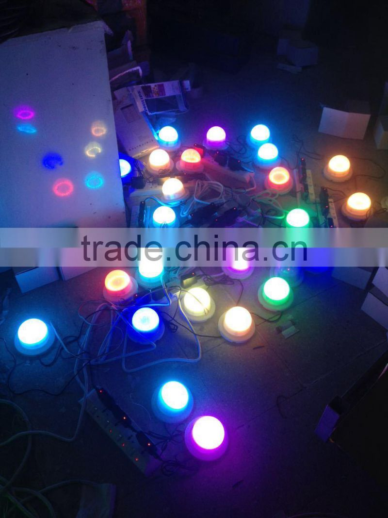 Color change RGBW battery led light