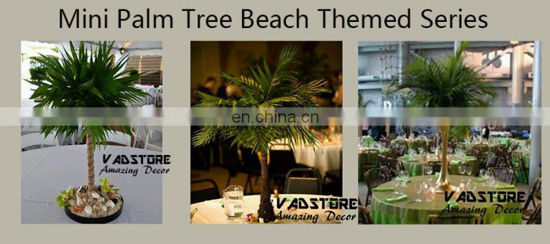 VADP02 mini artificial palm tree leaves beach themed wedding decor table centerpiece tree