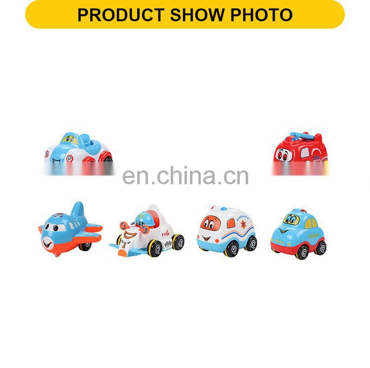 12 pcs cute friction toys car and airplane toys vehicle