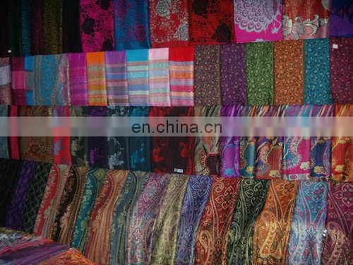 cashew jacquard pashmina shawl & scarf 70*180cm add 2*10cm fringe good quality with gold thread