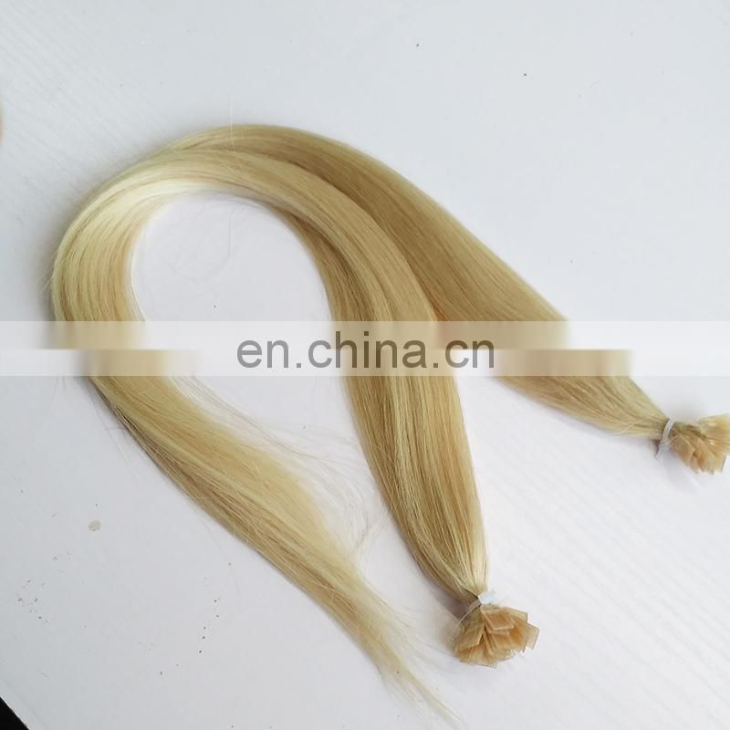 Factory Wholesale High Quality Flat Tip Keratin Hair Extensions 100%Human Remy Hair
