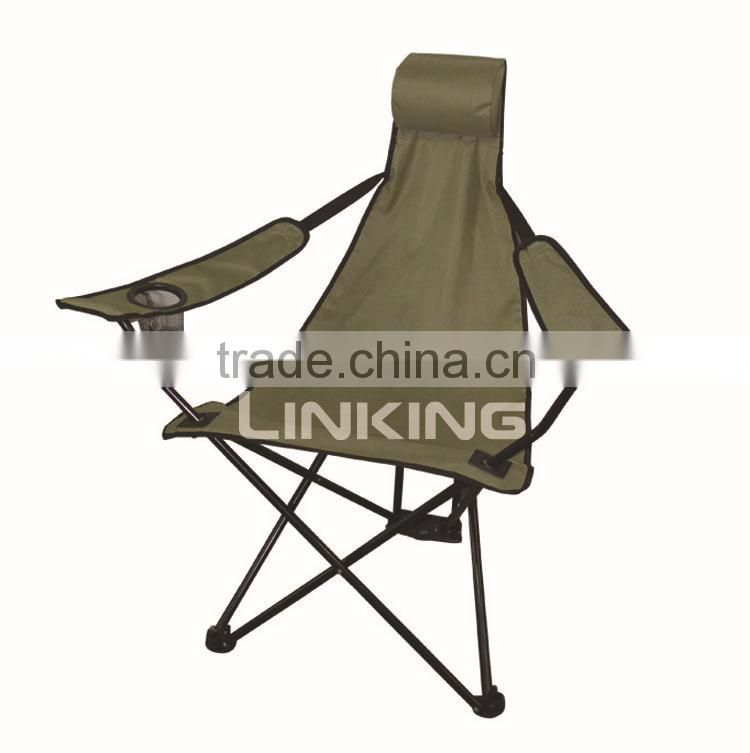 army green master reclining chair with cup holder