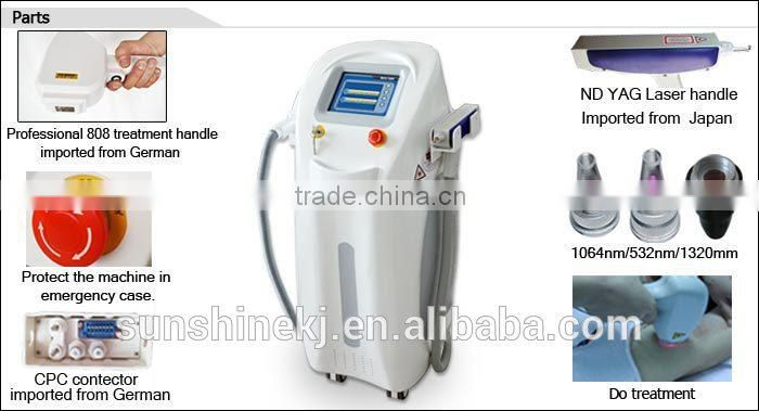 CE approved best-selling laser tattoo removal and diode depil machine for salon use