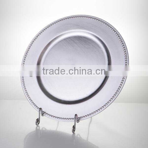 wholesale cheap rose red plastic plate